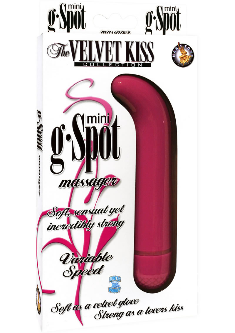 The Velvet Kiss Collection Mini G Spot Massager Multispeed Waterproof Pink